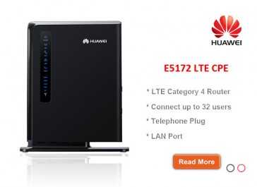 HUAWEI E5172s-22 150Mbps LTE FDD800/900/1800/2100/2600Mhz TDD2600Mhz Cat4 150Mbps Wireless CPE Router